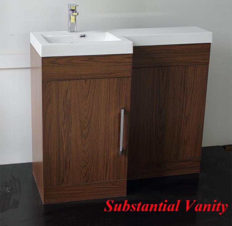 Fsc modern vanity bathroom waterproof bathroom furniture for Waterproof bathroom cabinets