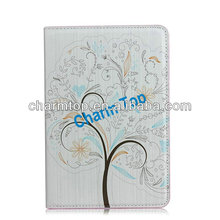 for ipad Mini 2 Colorful Flower Leather Case