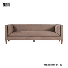 Classical Luxury Genuine leather Hotel Project Sofa MF-JH120