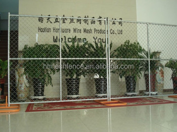 factory direct sale American market hot-dipped galvanized temporary chain link fence