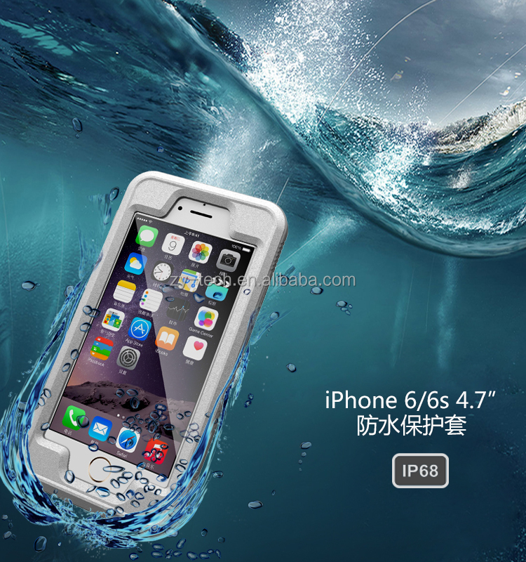 Top quality IP 68 certificated water proof case for iphone 6 6S surfing and beach volleyball using