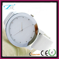 Cheap oem factory price custom brand your own logo elegance white watch ladies
