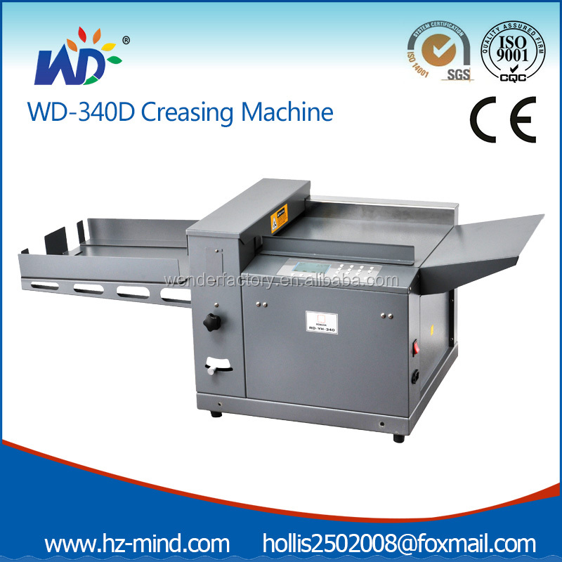 Professional Manufacture automatic Paper Creasing and Perforating Machine (WD-340D)