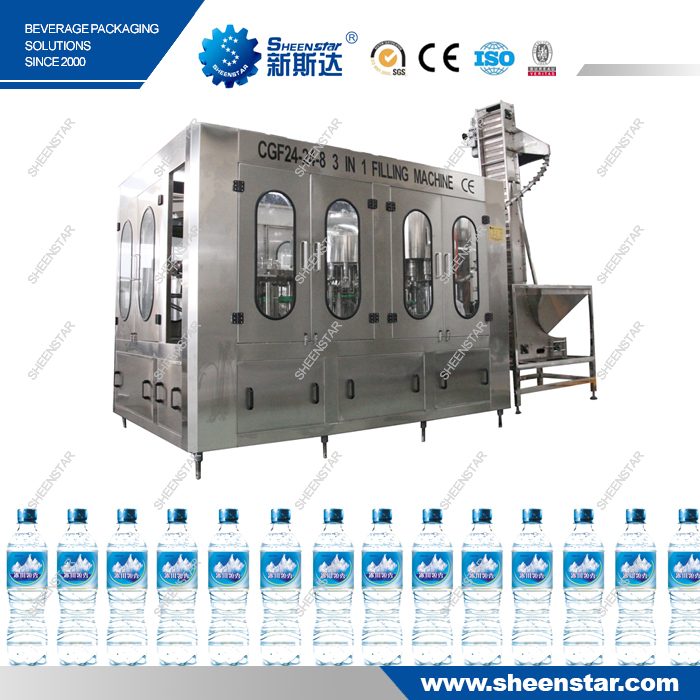 Touch screen automatic bottle washing filling capping machine