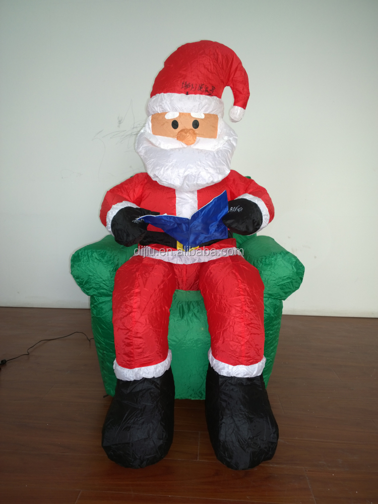 Wholesale ft inflatable christmas santa claus sitting on
