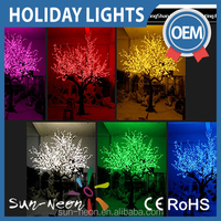Artificial Flower Tree Outdoor Lights Led Artificial Cherry Flower Holiday Light Fake Plant With Led Lights