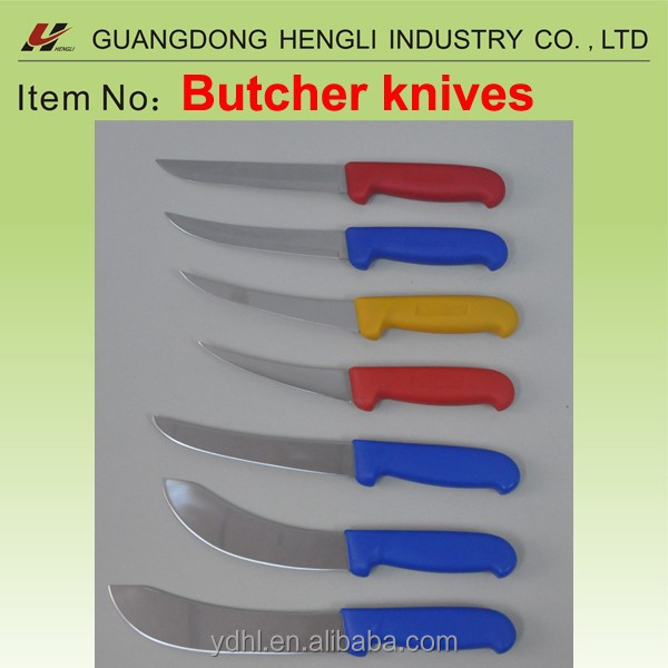 curved slaughter knife and fish knife