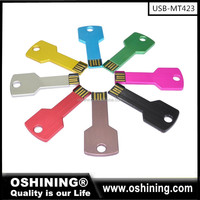 Promotion cheap usb flash drive key shape with logo