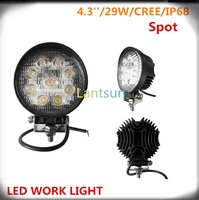 LED927R 27W round Off Road High Power ATV Jeep Trailer driving light