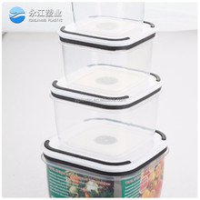 wholesale disposable round airtight plastic food container with lid airtight dog food containers glass container for food