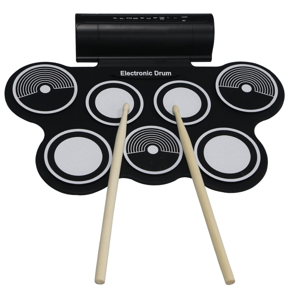 konix china factor roll up silcone drum kits built-in speaker kids fun toys midi drum game player