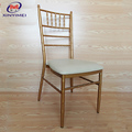 Durable Hot Sale Hotel Furniture Steel Party Tiffany Chair With Cushion