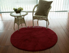 interior red fashion home microfiber polyester shaggy rugs pet mat