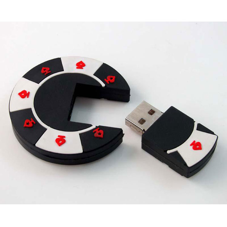colorful poker chip usb flash drives