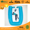 50-foot 3/8-inch Expanding Hose Green Flexible Expandable Safe Polyurethane Curly Spiral Coil Garden Water Hose Pipe