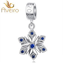 925 sterling silver snowflake pendants charms for bracelet fashion wholesale jewelry