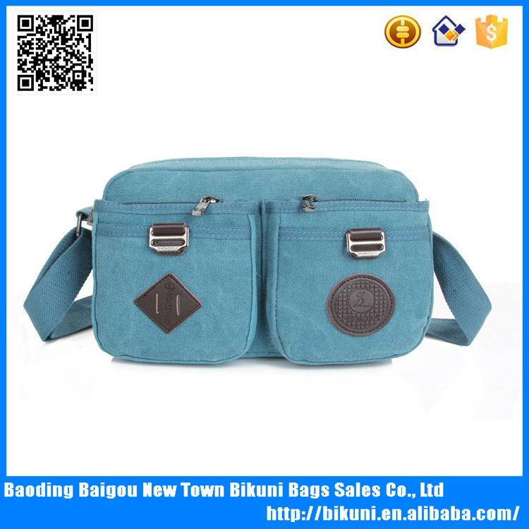 OEM customized logo low MOQ free sample fast delivery discount unisex outdoor teens satchel bag cheap canvas messenger bag 2016