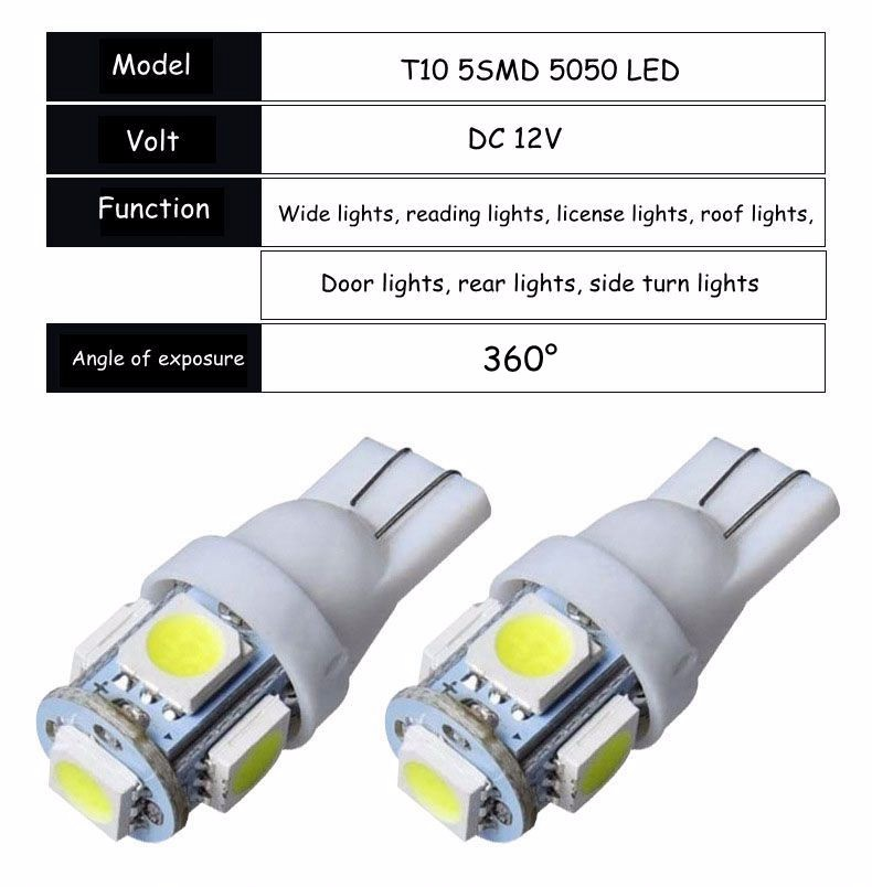 Led Auto Lights >> Led Bulb Light Car Led Led Auto Lights Car Led Lighting T10 1led