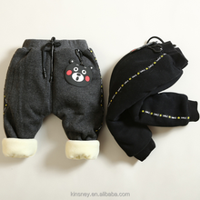 KS20692A Cheap price winter new design baby thick velour pants wholesale