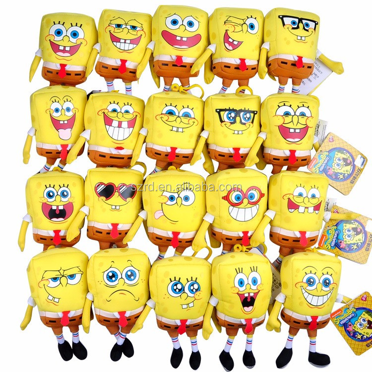 Stuffed soft and cute spongebob squarepants dolls kid toy christmas gift plush toy factory/cheap yellow plush toy/hot sale toy
