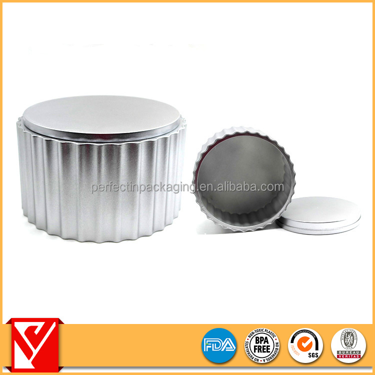 Natural printed shoe polish/candle tin cans wholesale
