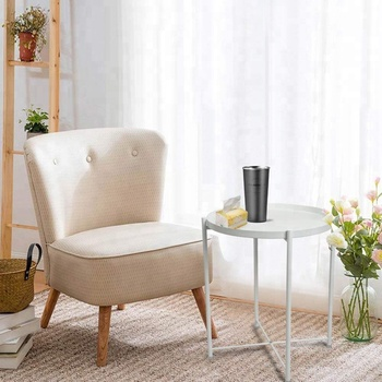 Wrought Iron Small Folding Round Corner Table Side Table