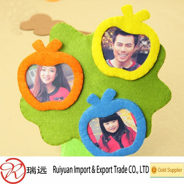 2015 Alibaba Laser Cut Customized Felt Photo Frame for Showing Family Pictures