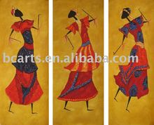 modern art paintings 3 panels beautiful women dance on canvas painting