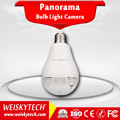 Weisky Newest Bulb Light Smart Home Night Vision 360 Degree Panoramic Fisheye IP Camera