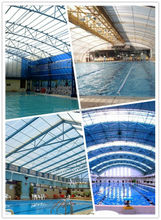 strong polycarbonate swimming pool roof,swimming pool roofing sheet,pc swimming pool cover