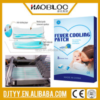 Fever Cooling Product Disposable Fever Gel Cooling Patch for Infants, Children and Adult
