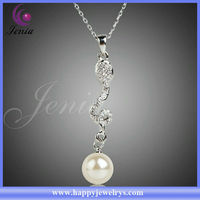 Best Selling !!18k Gold Plated Long Chain Necklace Cheap Fake Pearl Necklaces (Xn046)