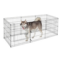 Large Metal Wire pet playpen Folding Adjustable Dogs Pet Cages