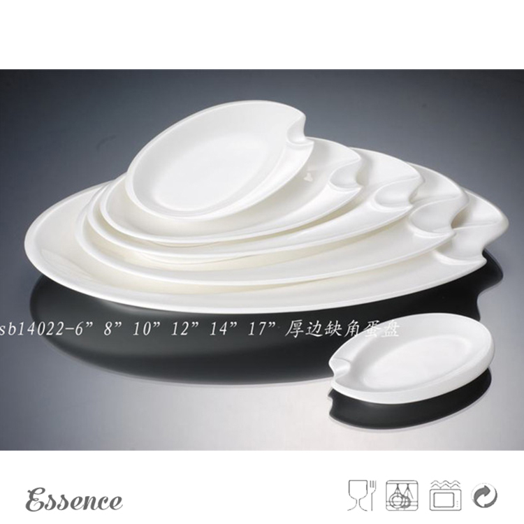 Light weight white porcelain buffet dishes for sale
