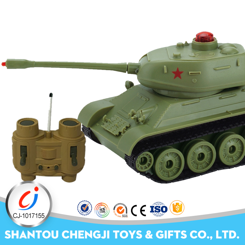 Newest plastic kids model military battle powerful electric toy rc tank 1 32