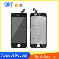 "mobile phone replacement exhibition display lcd full set for iPhone 5"" screen with digitizer"