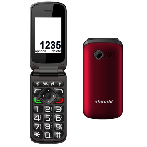 New products VKworld Z2 Elder Clamshell Phone Big Font Big Key Clamshell Design, High Bolume, Dual SIM Torch flip mobile phones