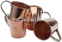 SOI Hammered Copper Moscow Mule Mug with Custom logo etched made of pure copper