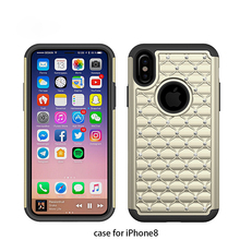 Wholesale colorful soft silicon phone cover case diamond bling case for iphone 7/8/7plus/8plus