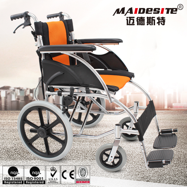 2017 small wheels aluminum alloy manual wheelchair for disabled
