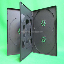 factory price black pp 5discs dvd case with 1 double tray