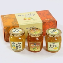 Korean Set No.5 (900g) (Citron Tea(Sliced Citron preserved in sugar) 300g, Citrus tenuissima tea(Sliced Citrus tenuissima preser