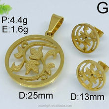 25mm and 13mm stainless steel design famous names of jewelry set