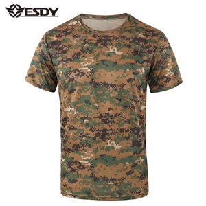 ESDY 16 Colors Outdoor Army Military Camo Tee Tactical Combat T Shirt