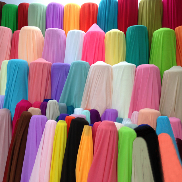 chinese wholesale plain dyed 75D chiffon fabric stocklot scarf hijab