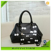 Alibaba always fashion lady cute big eyes print handbag to purchasers