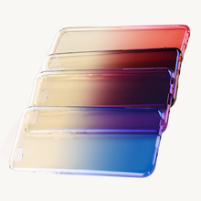 2017 Top Sale Gradient blue all-inclusive Hard case PC plating Sulfur light phone case for vivo x9