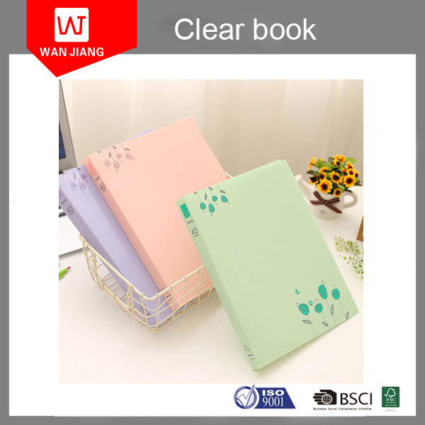 Good Price cute design Display Book A4 Pp Clear Book 20 40 60 80 100 Pockets