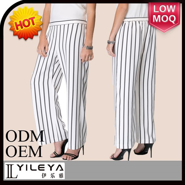 white and black striped latest fashion new model pants