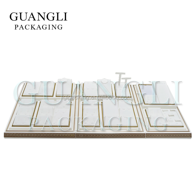 GL Packing Custom High-end jewelry set display leather material